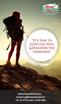 It's time to leave the nest, and discover the unknown..!!
