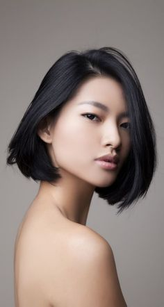 bob with side bangs asian - Google Search