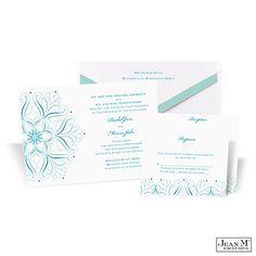 Michaels http://invitations.michaels.com/Wedding-Invitations/Blue/2988-MK42R6U-Mod-Medallion-Wedding-Invitation--Palm.pro#detailTab