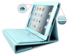 Leather Case Cover with Bluetooth Wireless Keyboard for Apple iPad2 3 4 Blue | eBay