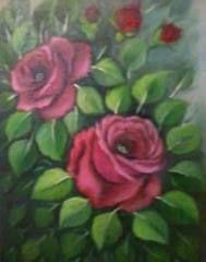 Red Roses from Rosane Iadanza - oil on canvas - Paracambi - Rio de Janeiro - Brasil