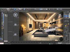 3D Studio Max - Living Room Part-1 Ceiling Light Design, Lighting Design, Autocad, Architecture Portfolio, Architecture Design, 3d Max Tutorial, 3ds Max Design, 3d Max Vray, Ceiling Plan