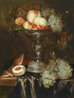 Abraham van Beyeren  Still Life with Fruit in Silver Tazza  17th century