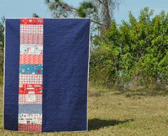 Even though this is a quilt back, I'm loving the simple design.  It'd be easy to make as a reversible quilt.