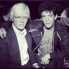 painter photographer Mr Andy Warhol and composer performer Mr Lou Reed of the Velvet Underground.