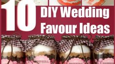 Edible DIY Wedding Favour Ideas