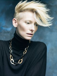 Miss Tilda Swinton / always spectacular! amazing hair.