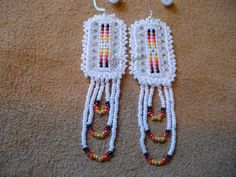 Native American style loom beaded earrings by DebsVisions on Etsy