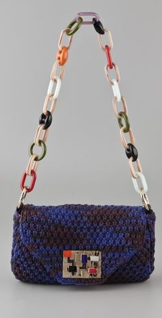 M Missoni Space Dye Boucle Bag. dying over the chain strap and cool clasp.