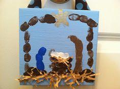 Leapfrog & Ladybugs: Fingerprint Nativity Craft (how to}