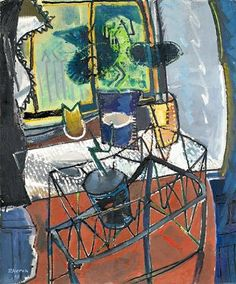 Strong Auction Results for Cornish Art at Bonhams - Auction Publicity Peter Wood, Patrick Heron, Modern Artists, Male Artists, A Level Art, St Ives, Art History, Contemporary Art, Yorkie