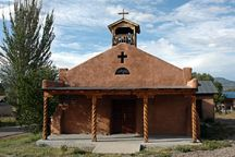Iglesia Catolica de la Santa Cruz in the village of Chamisal.
