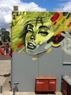 Graffiti art by Sofles. Photographed by Ironlak, via Flickr #graffiti #mural #art