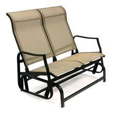 Classic Patio - Loveseat Glider - Freestanding Sling Style Porch Swing For Two