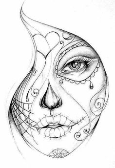 Mexico honors the dead - Mexico honors the dead - Dark Art Drawings, Pencil Art Drawings, Art Drawings Sketches, Tattoo Drawings, Cool Drawings, Body Art Tattoos, La Muerte Tattoo, Skull Coloring Pages, Coloring Pages To Print