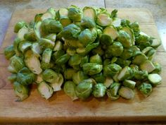 oven roasted brussels sprouts. Cut in half, toss with extra virgin olive oil, fresh ground sea salt & pepper. Roast at 450 (I use convection) for 10 minutes. Stir and roast for 5 minutes longer until outer leaves are crispy.