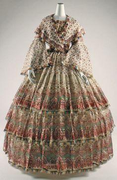 Dress, c. 1850, The Met.