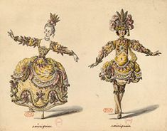 Anonymous (France, circa 1750) Costume design for Voltaire's tragedy Alzire, ou les Américains, performed at the Théâtre des Petits Cabinets in the author's presence in 1750, with Madame de Pompadour in the title role Pen and watercolor H. 0.35 m; L. 0.27 m Rés. D216 05. fol. 16 Paris, Bibliothèque de l'Opéra