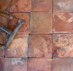special lot of reclaimed Spanish terracotta squares - notice the depth and dimension of colors