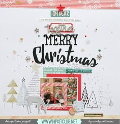 #papercrafting #scrapbook #layout: Together Merry Christmas with Wendy