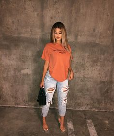 Women Jeans Outfit White Sweater Outfit Khaki Joggers Womens Long Skirt Casual Outfit Grey Pant Plus Size Vintage Clothing Jeans And Heels Outfit – orchidrlily Chill Outfits, Cute Casual Outfits, Dope Outfits, Jean Outfits, Stylish Outfits, Summer Outfits, Dress Casual, Casual Heels Outfit, Casual Mom Style