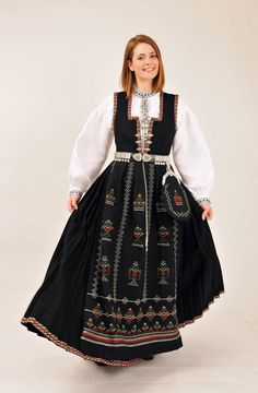 Nordfjordbunad- Sogn og Fjordane Norway, Scandinavian, All Things, Costumes, Birth, Photography, Country, Black, Dresses