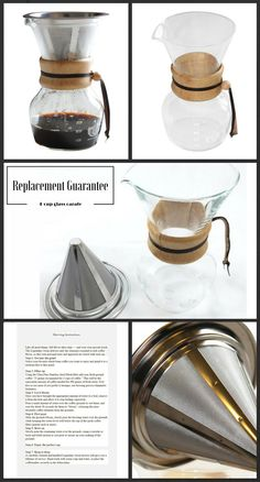 Eco-friendly, decorative and functional pour over 4 Cup Glass Carafe coffee maker with innovative design. Enjoy the best and perfect slow drip coffee at home. Coffee Geek, Coffee Is Life, Coffee Coffee, Drip Coffee, Coffee Time, Coffee Shop, Coffee Cups, Coffee Maker, Bar Drinks