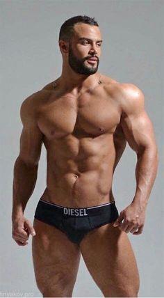 Black muscular naked men