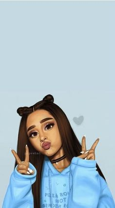 its a photo of ariana grande and it is a cute picture. its a photo of ariana grande and it is a cute picture. Ariana Grande Anime, Ariana Grande Drawings, Ariana Grande Fans, Ariana Grande Pictures, Ariana Grande Background, Ariana Grande Wallpaper, Cute Girl Drawing, Cute Drawings, Adriana Grande