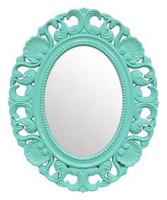 Look at this #zulilyfind! Teal Baroque Wall Mirror #zulilyfinds
