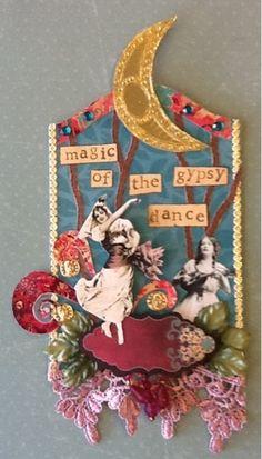 Scrap Savings: Gypsy Fortune Teller Swap AlphaStamps Altered chipboard art