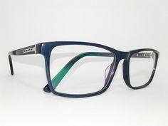 Óculos Grande Armação Acetato Masculino Tamanho 58 Azul marinho