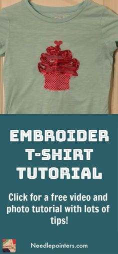 Learn how to machine embroider a t-shirt. Embroidering a t-shirt with an embroidery machine is a great way to personalize, monogram and add embroidery designs to t-shirts in the comfort of your… Used Embroidery Machines, Machine Embroidery Thread, Machine Embroidery Projects, Types Of Embroidery, T Shirt Tutorial, Embroidery For Beginners, Sewing Projects, Sewing Ideas, Craft Projects