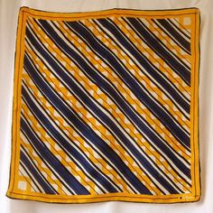 Yellow and blue Vera scarf