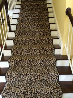 Attractive Leopard Carpeting On The Stairs (do You Think My Husband Would Notice  It???) | My Future HOUSE | Pinterest | Leopard Carpet, Staircases And Foyers