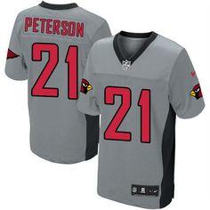 da106c7ae Men s Nike Arizona Cardinals  21 Patrick Peterson Limited Grey Shadow Jersey