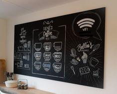 Krijtbord tekeningen met een unieke betekenis die gaat over koffie, cupcakes bakken en koken Home Decor, Decoration Home, Room Decor, Home Interior Design, Home Decoration, Interior Design