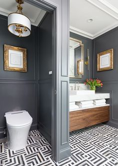 decor diy ideas decor inspo decoration to decor bathroom mirror and decor with bathroom decor decor gray and white decor ideas small Bathroom Renos, Small Bathroom, Master Bathroom, Houzz Bathroom, 1920s Bathroom, Bling Bathroom, Bathroom Goals, Dream Bathrooms, Beautiful Bathrooms