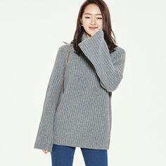 (T-2976) Wide Retail Turtle Knit