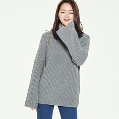 (T-2976) Wide Retail Turtle Knit