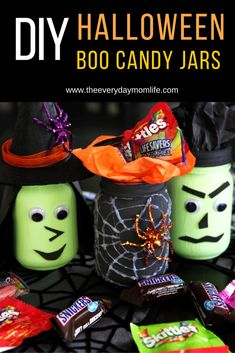 Give someone a treat this Halloween with these DIY BOO candy jars. Fill them with people's favorite goodies and surprise someone you love and appreciate.