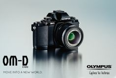 Olympus OM-E-M10 Mark Mk 3 D Cuero Pu Medio III Funda-Negro