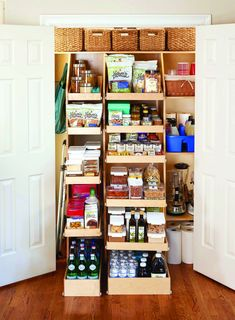 Sliding Shelves For Pantry - This Cozy Sliding Shelves For Pantry ideas was upload on January, 3 2020 by Elmer Emmerich. Here latest Sliding Shelves For Pantry Pantry Shelf Organizer, Pull Out Pantry Shelves, Slide Out Shelves, Sliding Shelves, Pantry Shelving, Kitchen Organization Pantry, Kitchen Pantry, Kitchen Ideas, Kitchen Cabinets