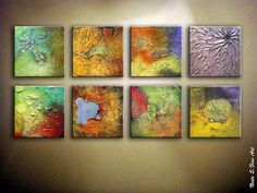 Abstract Original Heavy Textured Painting.Huge por NataSgallery