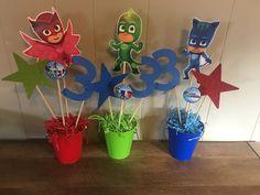 45 Ideas birthday cake boys pj masks for 2020 Superhero Birthday Party, 4th Birthday Parties, Birthday Ideas, Birthday Party Centerpieces, Birthday Decorations, Pjmask Party, Party Ideas, Pj Mask Party Decorations, Festa Pj Masks