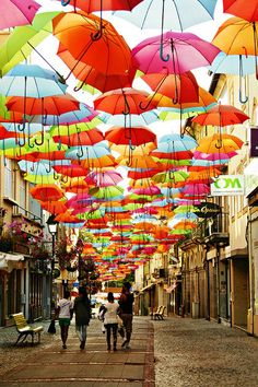 STYLEeGRACE ❤'s the umbrellas in Agueda, Portugal!