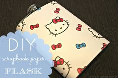 scrapbook paper and modge podge flask