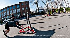 Using Push Sleds to Lose Fat A closer look at one of the fastest ways to transform your body