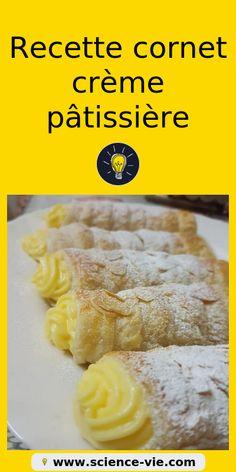 Recette cornet au crème pâtissière #recette #sucrée #facile #cuisine #crèmes