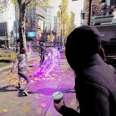 Neon healing a random dude!